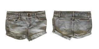 Pantalones cortos del dril de algodón para la hembra fotografía de archivo libre de regalías
