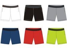 Pantalones cortos del vector para los hombres 002 Fotos de archivo libres de regalías