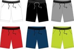 Pantalones cortos del vector para los hombres 003 Imágenes de archivo libres de regalías