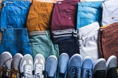 Pantalones cortos masculinos del verano Foto de archivo libre de regalías