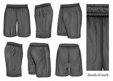 Pantalones cortos negros del deporte de los hombres Imagen de archivo