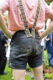 Pantalones de cuero bávaros fotos de archivo libres de regalías