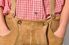 Pantalones de cuero bávaros Foto de archivo