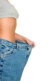 Pantalones de la pérdida de peso imágenes de archivo libres de regalías