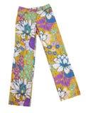 Pantalones de los pantalones de las flores Foto de archivo