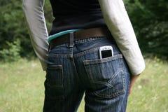 Pantalones de los pantalones vaqueros Fotos de archivo