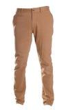 Pantalones de los tipos de tela de algodón aislados en el blanco, estilo de la moda del fantasma de la fotografía, bei fotografía de archivo libre de regalías