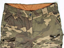 Pantalones del camuflaje con sus bolsillos Imágenes de archivo libres de regalías