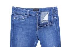 Pantalones del dril de algodón de la cremallera Fotos de archivo