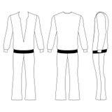 Pantalones del hombre de la llamarada y camiseta larga de la manga Imagen de archivo