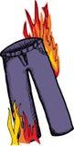 Pantalones en el fuego Imágenes de archivo libres de regalías