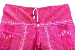 Pantalones rojos del algodón Imagen de archivo libre de regalías