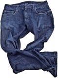 Pantalones vaqueros, aislados Imagen de archivo libre de regalías