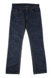 Pantalones vaqueros azul marino Fotos de archivo libres de regalías