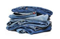 Pantalones vaqueros azules del dril de algodón Imagen de archivo