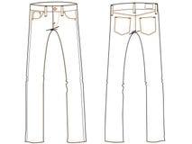 Pantalones vaqueros básicos que drenan illustrati Foto de archivo libre de regalías