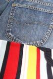 Pantalones vaqueros del desgaste Imagen de archivo libre de regalías