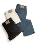 Pantalones vaqueros del dril de algodón Imagen de archivo libre de regalías