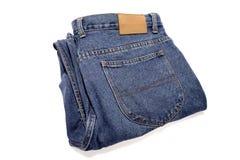 Pantalones vaqueros del dril de algodón Imágenes de archivo libres de regalías