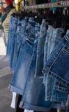 Pantalones vaqueros del dril de algodón Imagen de archivo