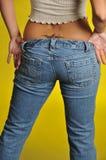Pantalones vaqueros del dril de algodón Imagenes de archivo