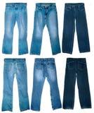 Pantalones vaqueros desgastados viejos Foto de archivo libre de regalías