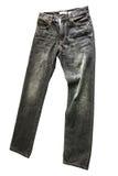 Pantalones vaqueros negros Fotografía de archivo libre de regalías