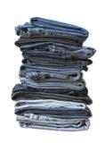 Pantalones vaqueros plegables Imágenes de archivo libres de regalías