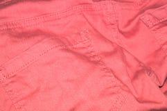 Pantalones vaqueros rosados Fotos de archivo libres de regalías