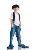 Pantalones vaqueros a tener en cuenta crecimiento Foto de archivo libre de regalías