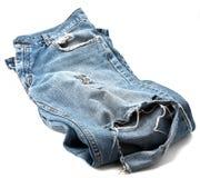 Pantalones vaqueros usados Fotografía de archivo