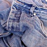 Pantalones vaqueros viejos Imágenes de archivo libres de regalías