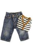 Pantalones vaqueros y suéter del bebé Foto de archivo