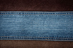 Pantalones vaqueros y texturas de la pana Imagen de archivo libre de regalías