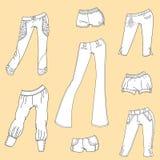 Pantalones y pantalones cortos del verano de las mujeres Imágenes de archivo libres de regalías