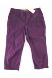 Pantaloni alla moda dei pantaloni isolati Fotografia Stock Libera da Diritti