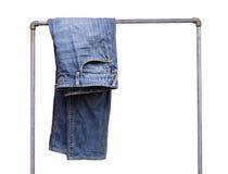 Pantaloni blu del tralicco Fotografia Stock