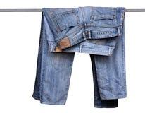 Pantaloni blu del tralicco Fotografia Stock Libera da Diritti