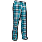 Pantaloni blu rumorosi di golf illustrazione di stock