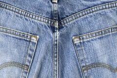 Pantaloni blu utilizzati Immagine Stock