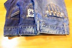 Pantaloni dei jeans, jeans dei pantaloni, jeans di signora Fotografia Stock Libera da Diritti