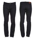 Pantaloni del denim del ` s degli uomini Fotografia Stock