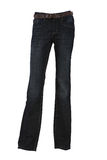 Pantaloni del denim su un mannequin con la fascia Fotografie Stock Libere da Diritti