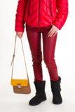 Pantaloni della borsa e del cuoio di Brown Fotografia Stock Libera da Diritti