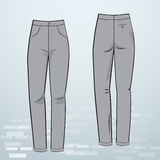 Pantaloni delle donne illustrazione vettoriale