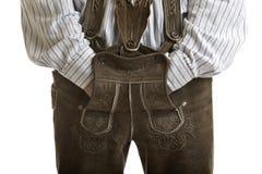 Pantaloni di cuoio originali di Oktoberfest (Lederhose) Fotografia Stock Libera da Diritti