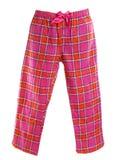 Pantaloni di pigiama del plaid immagini stock