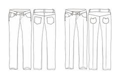 Pantaloni lunghi del denim Fotografie Stock Libere da Diritti
