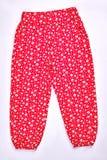 Pantaloni modellati neonata, vista frontale Fotografia Stock