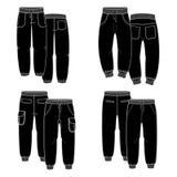 Pantaloni neri Fotografia Stock Libera da Diritti